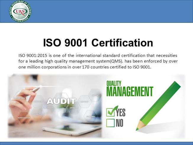 What is ISO 9001:2015 Quality Management System Certification