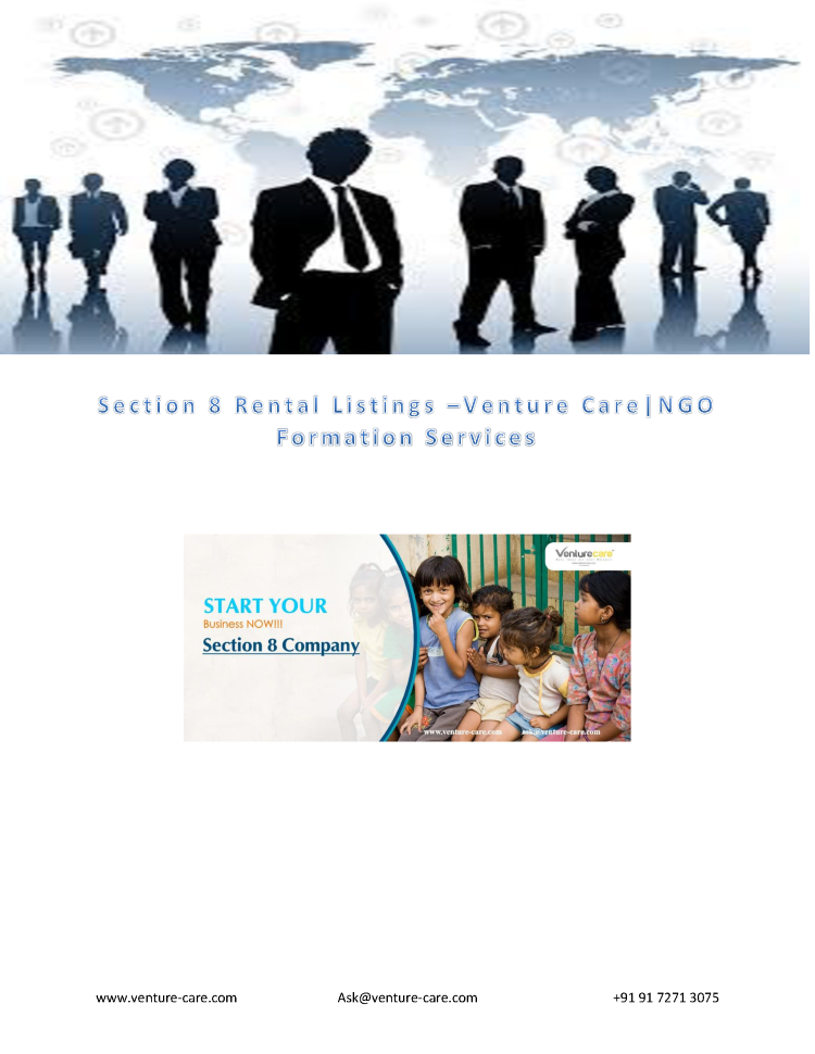 Section 8 Rental Listings –Venture Care|NGO Formation