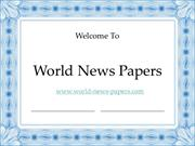 Which Is Best Online News Papers or Offline NewsPapers - World News Pa