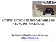 Activities to do in the Car While on a Long Distance Move