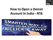 How to Open Demat Account in India - NTA
