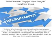 William Almonte - Things you should know for a recruitment process