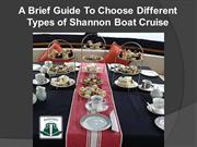 A Brief Guide To Choose Different Types of Shannon Boat Cruise
