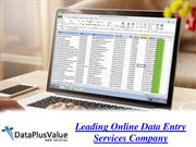 Select the Leading Data Entry Company