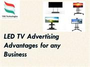 LED TV Advertising Advantages for any Business