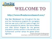 Five Star Montessori - Schools for Kids