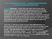 Bulk SMS Marketing in India – A higher Return promotion technique with