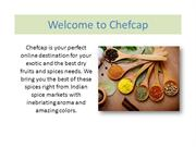 Spices Online | Manufacturer of Spices - Chefcap Online Groceries