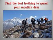 Find the best trekking to spend your vacation days