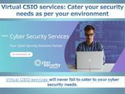 End to End Cyber Security Services