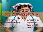 PATTERNS OF NURSIGN CARE DELIVERY SYSTEM