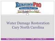 Water Damage Restoration Cary North Carolina