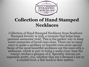 Collection of Hand Stamped Necklaces