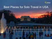 Best Places For Solo Travel In USA