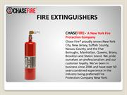 Fire Extinguishers Service In New York -  Fire Suppression Systems