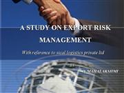 ppt on export risk management