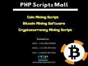 Coin Mining Script- Cryptocurrency Mining Script - Bitcoin Mining Soft