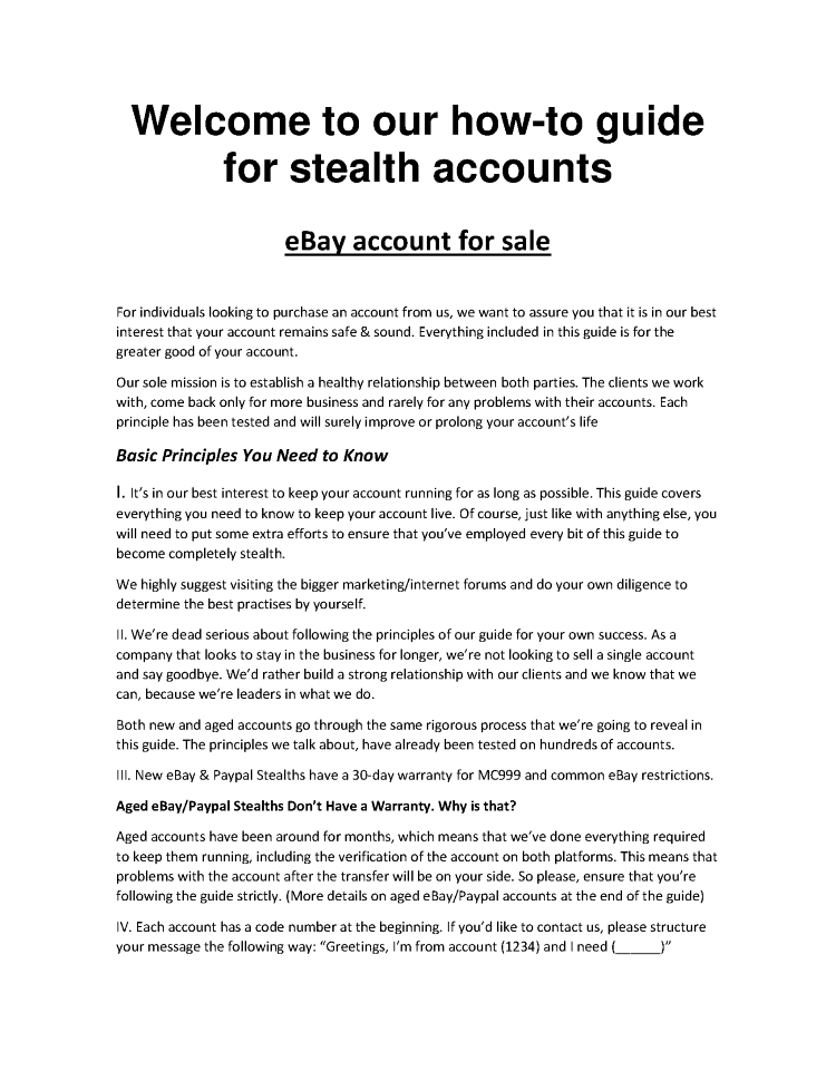Guide-For-Stealths-Acc-Www Yourstealth Com |authorSTREAM
