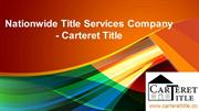 Nationwide Title Services Company - Carteret Title