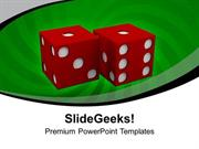 PAIR OF ROLLING DICE SHOWING RISK BUSINESS POWERPOINT TEMPLATE