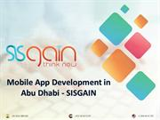 Best Mobile Application development Company in Abu Dhabi