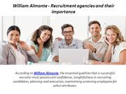 William Almonte - Recruitment Agencies and Their Importance