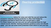 Hearing protection                                        Hearing prot