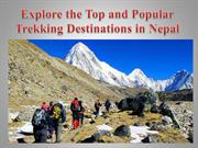 Explore the Top and Popular Trekking Destinations in Nepal