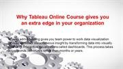 Why Tableau Online Course gives you an extra edge in your organization