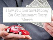 How You Can Save Money On Car Insurance