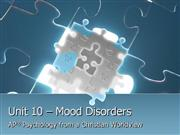 Psychology Unit 10 Mood Disorders