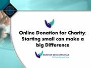 Online Donation for Charity: Starting small can make a big Difference