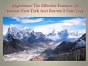 Experience The Effective Features Of Everest View Trek And Everest 3 P