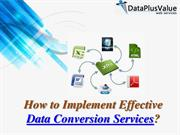 Get Delegate Data Conversion Services from DataPlusValue
