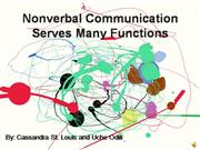 Nonverbal Communication Serves Many Func