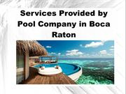 Services Provided by Pool Company in Boca Raton