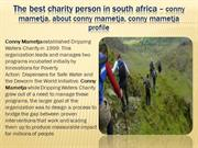 The Charity Commission for south africa – conny mametja