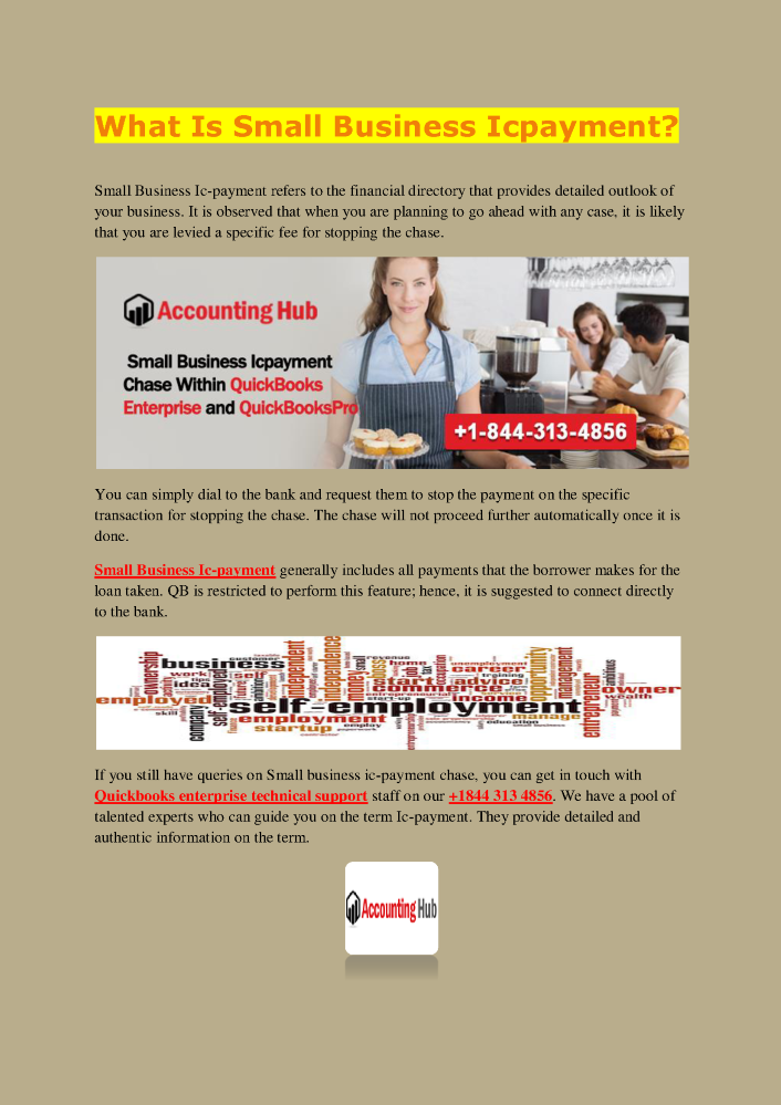 What is Small Business Icpayment - 1844-313-4856  authorSTREAM