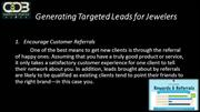 Generating Targeted Leads for Jewelers