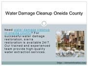 Water Damage Cleanup Oneida County