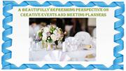 Creative events and meeting planning agency London