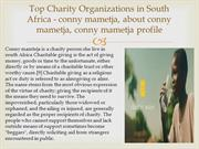 Biggest Charity person in south Africa - conny  mametja
