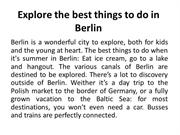 Explore the best things to do in Berlin