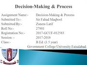 Decision Making & process