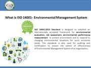 What is ISO 14001:2015 Certification.
