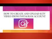 How to Upload IGTV Video from Instagram | Updated