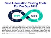 Best Automation Testing Tools For DevOps 2018