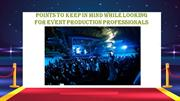 live event Production Companies
