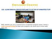 How hiring a junk removal portland to clean your property?
