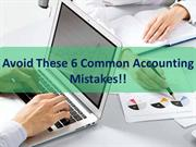 Avoid These 6 Common Accounting Mistakes!!
